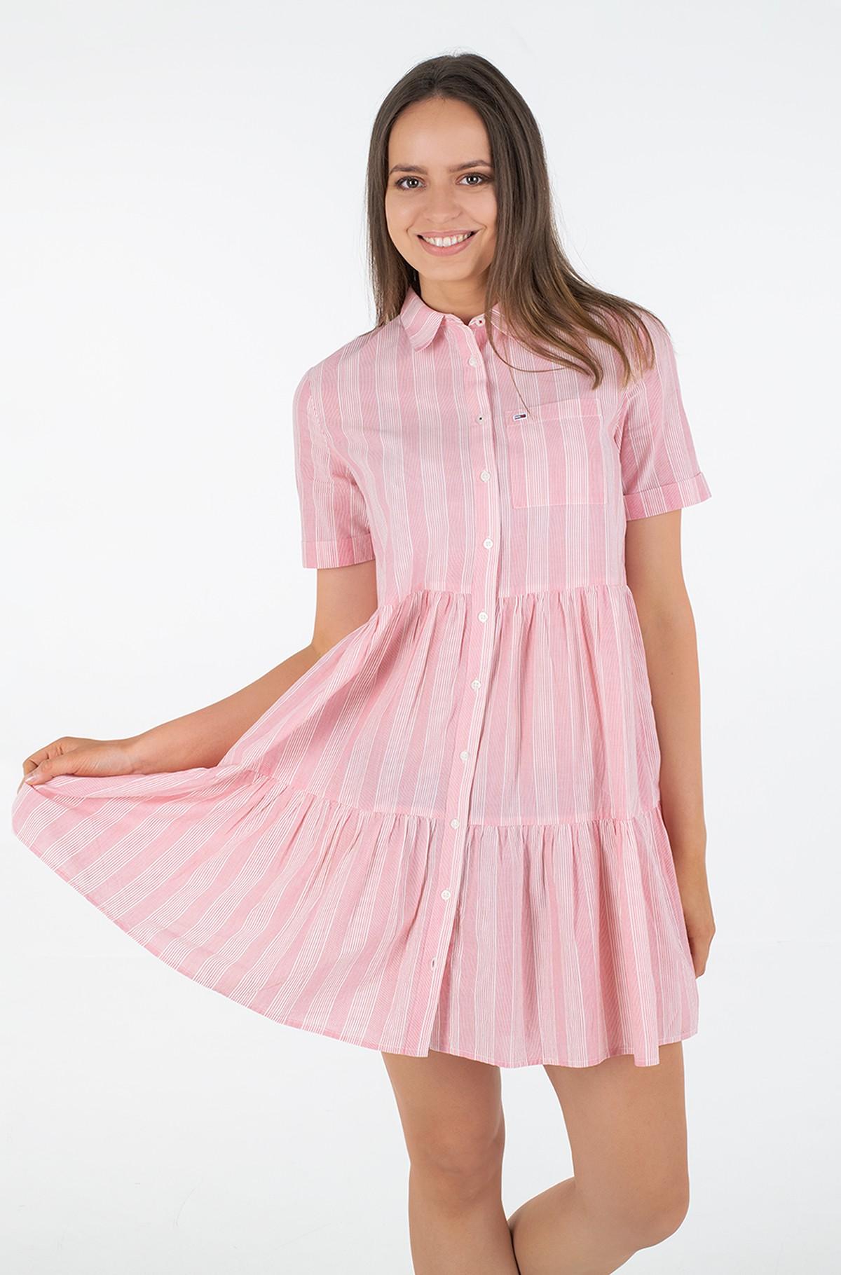 Dress TJW STRIPE TIERED SHIRT DRESS-full-2