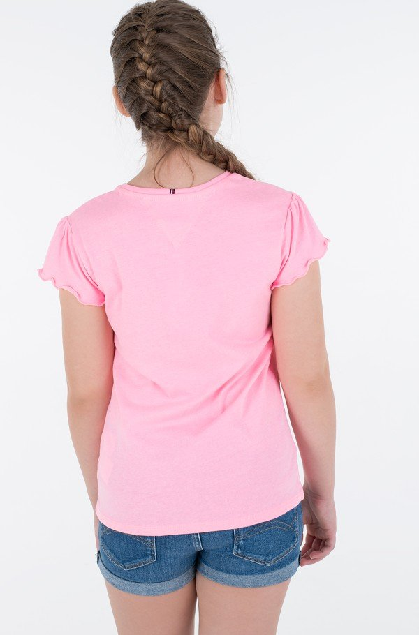 ESSENTIAL RUFFLE SLEEVE TOP S/S-hover