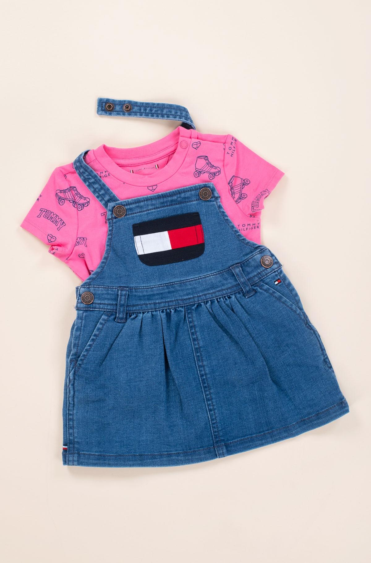 Laste kleit BABY DUNGAREE DRESS SET-full-1