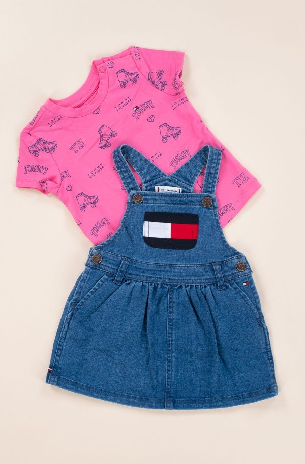 BABY DUNGAREE DRESS SET-hover