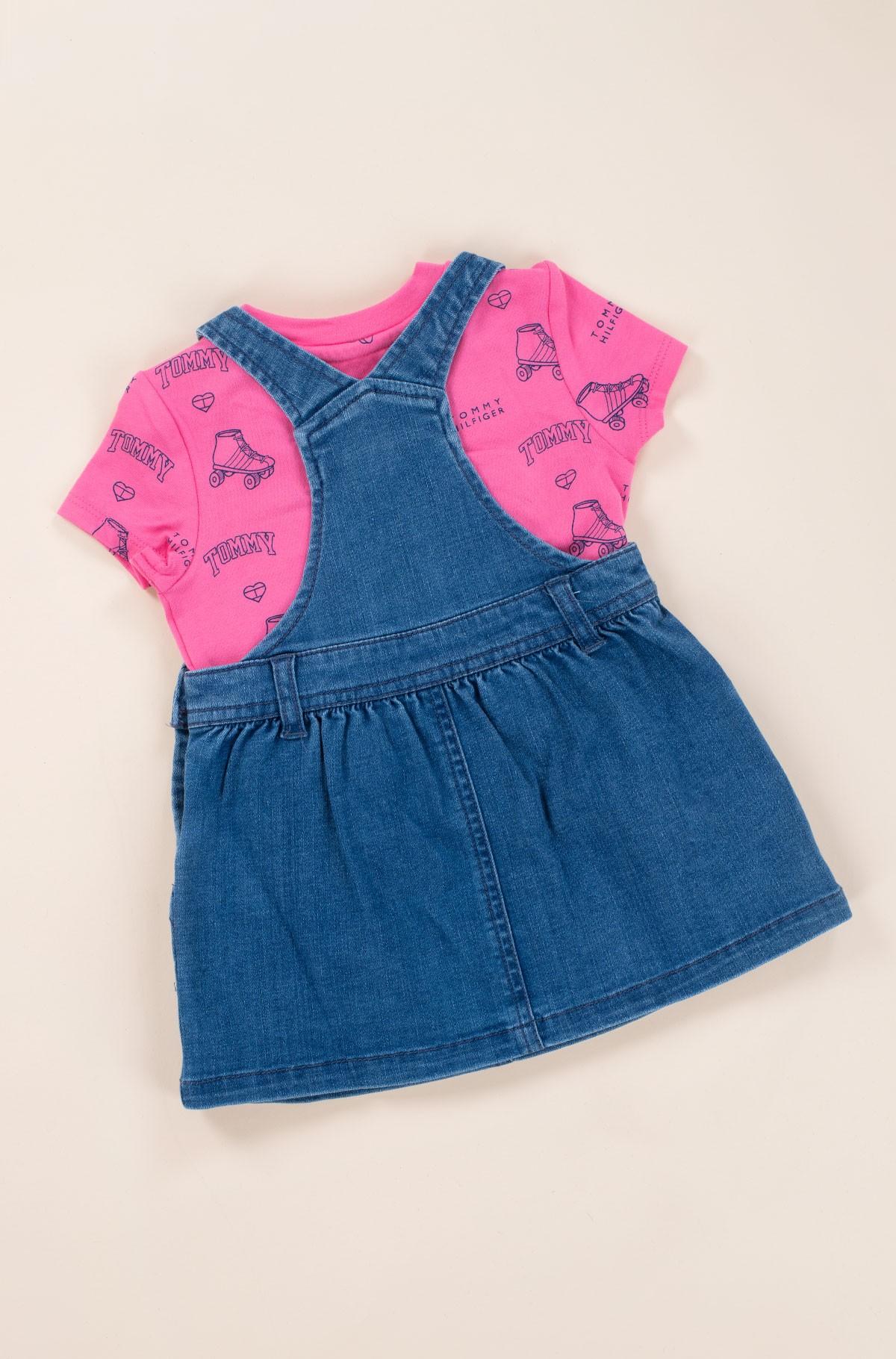 Laste kleit BABY DUNGAREE DRESS SET-full-4