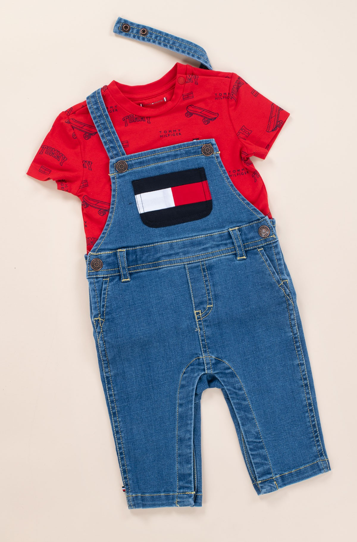 Kelnės su petnešomis BABY TOMMY DUNGAREE SET-full-1