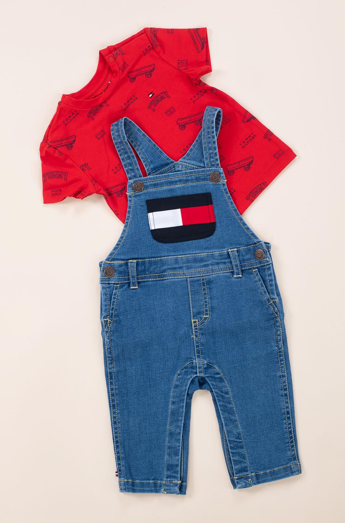 Kelnės su petnešomis BABY TOMMY DUNGAREE SET-full-2