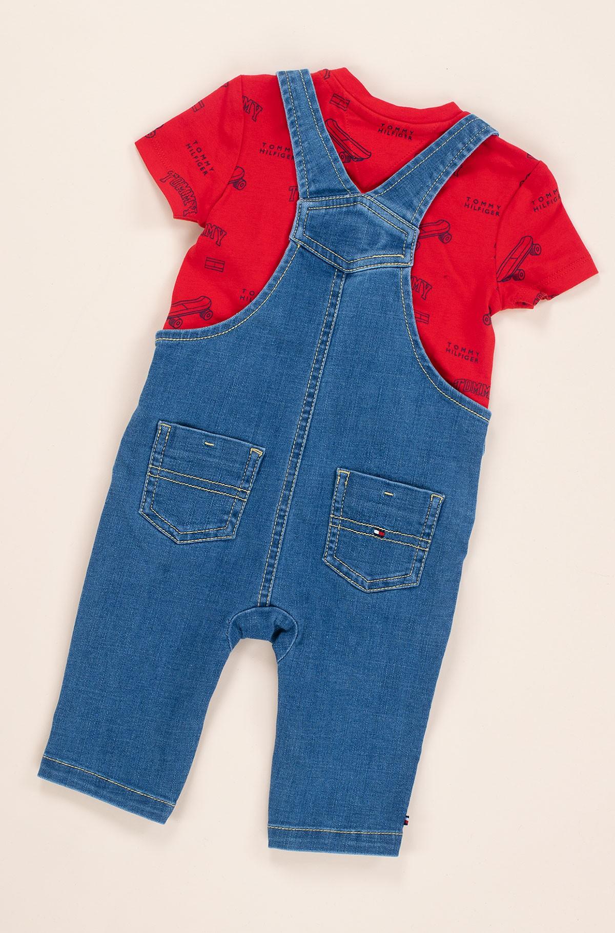 Kelnės su petnešomis BABY TOMMY DUNGAREE SET-full-3