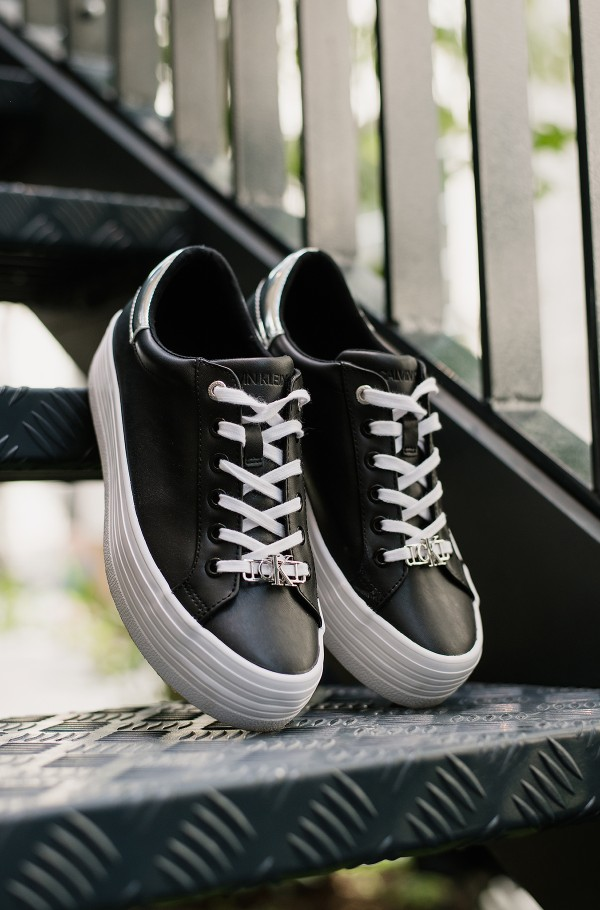 VULCANIZED FLATFORM LACE UP LTH