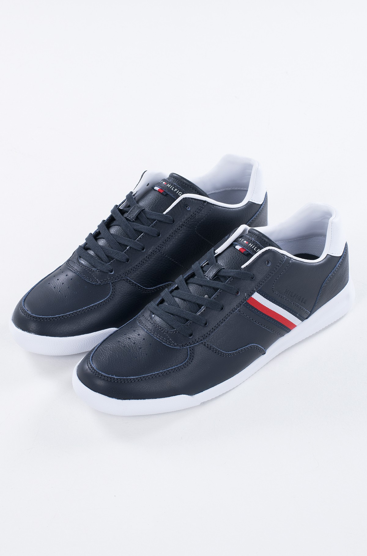 Casual shoes LIGHTWEIGHT LEATHER SNEAKER FLAG-full-1