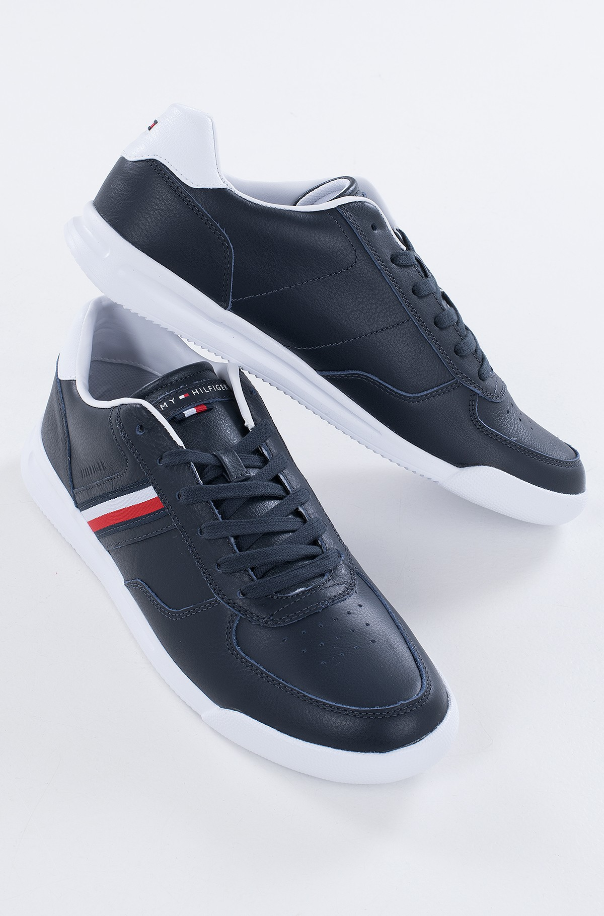 Casual shoes LIGHTWEIGHT LEATHER SNEAKER FLAG-full-2