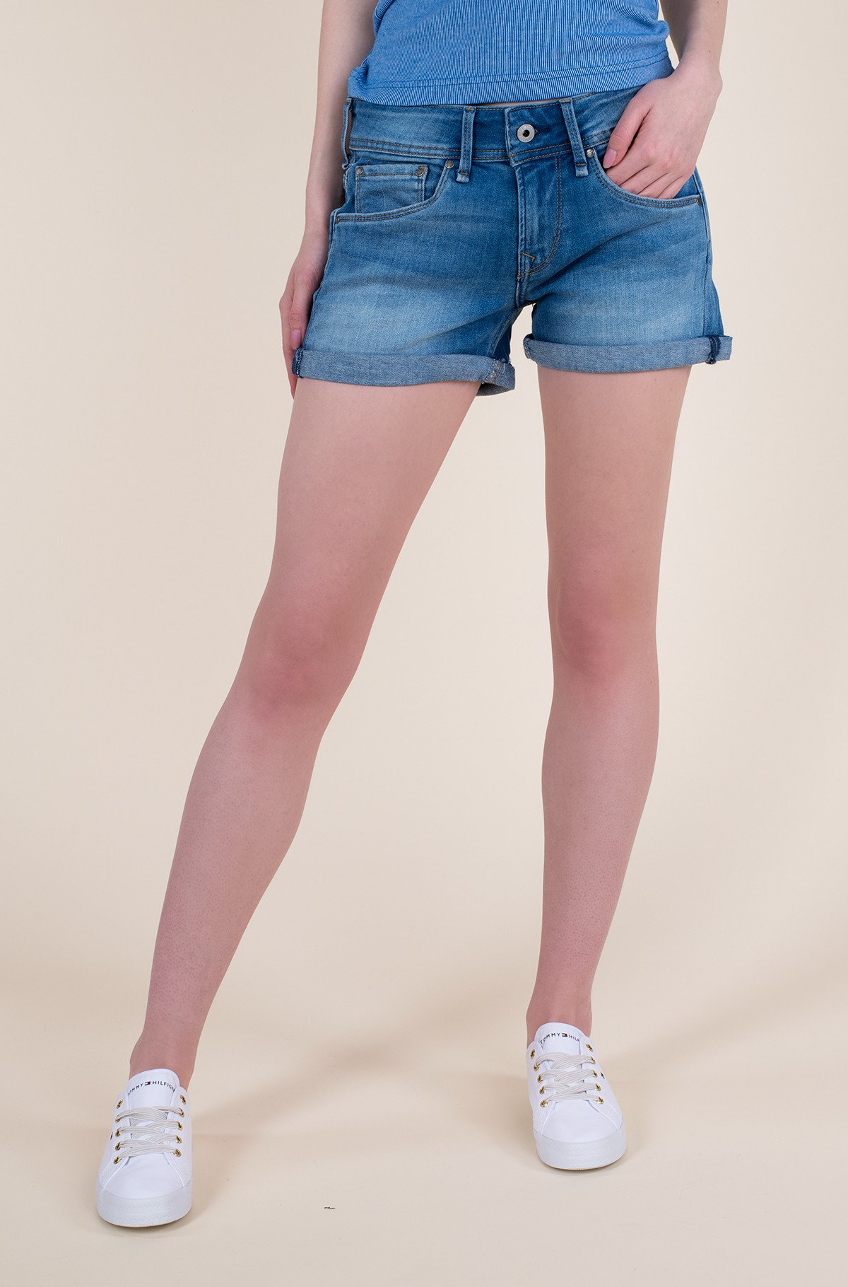 Lühikesed teksapüksid SIOUXIE/PL800685HH1-full-1