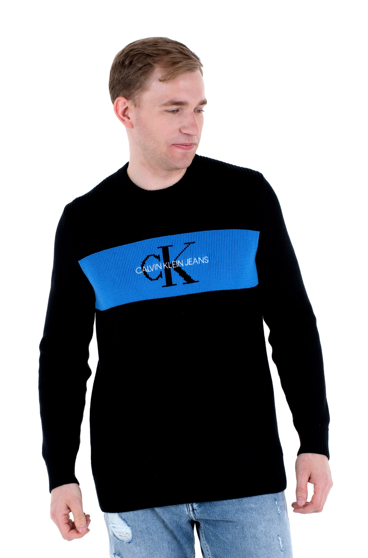 Sweater CK BOX STRIPE SWEATER-full-1