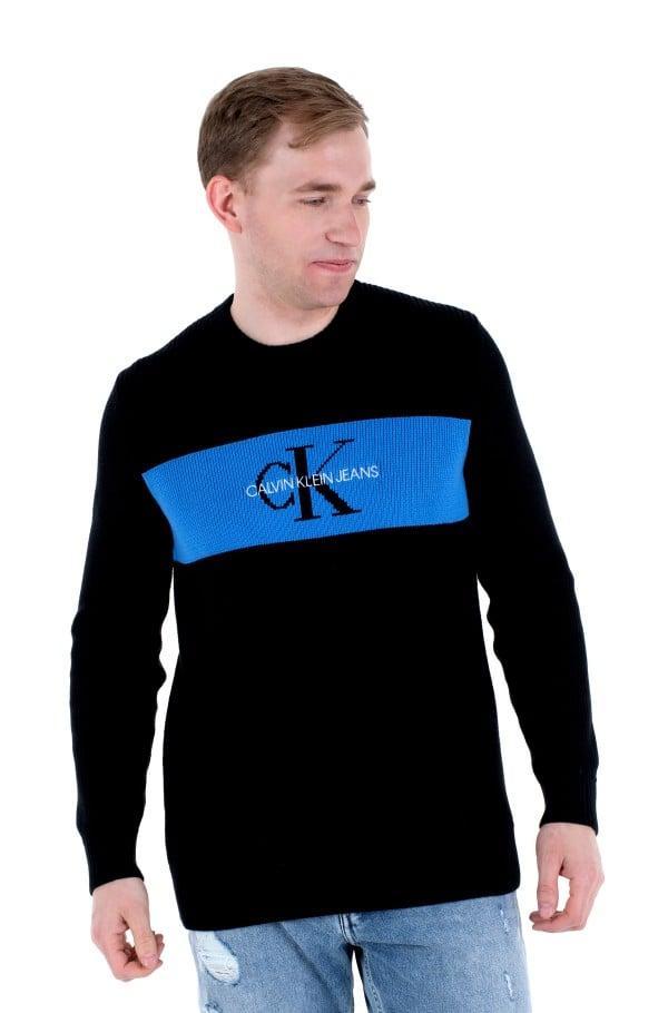 CK BOX STRIPE SWEATER