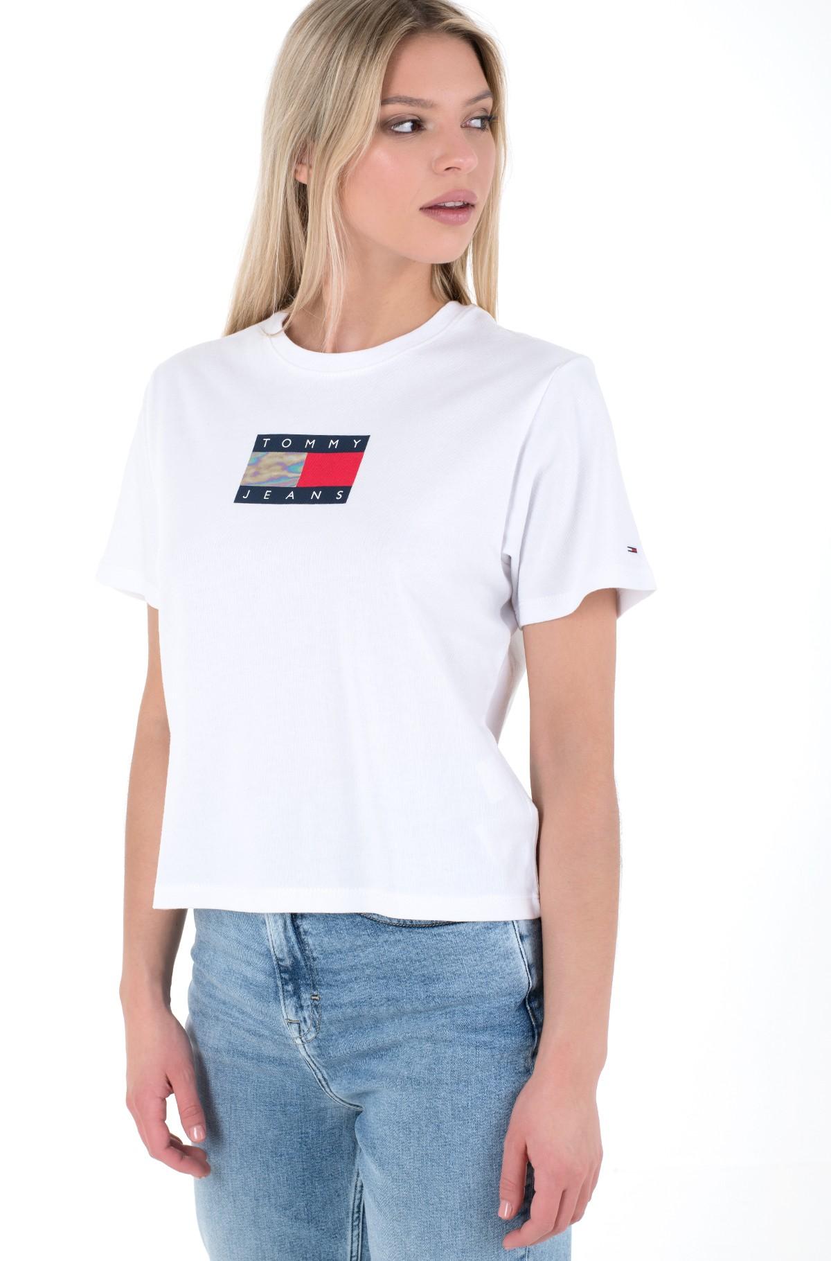 T-särk TJW CROP METALLIC FLAG TEE-full-1