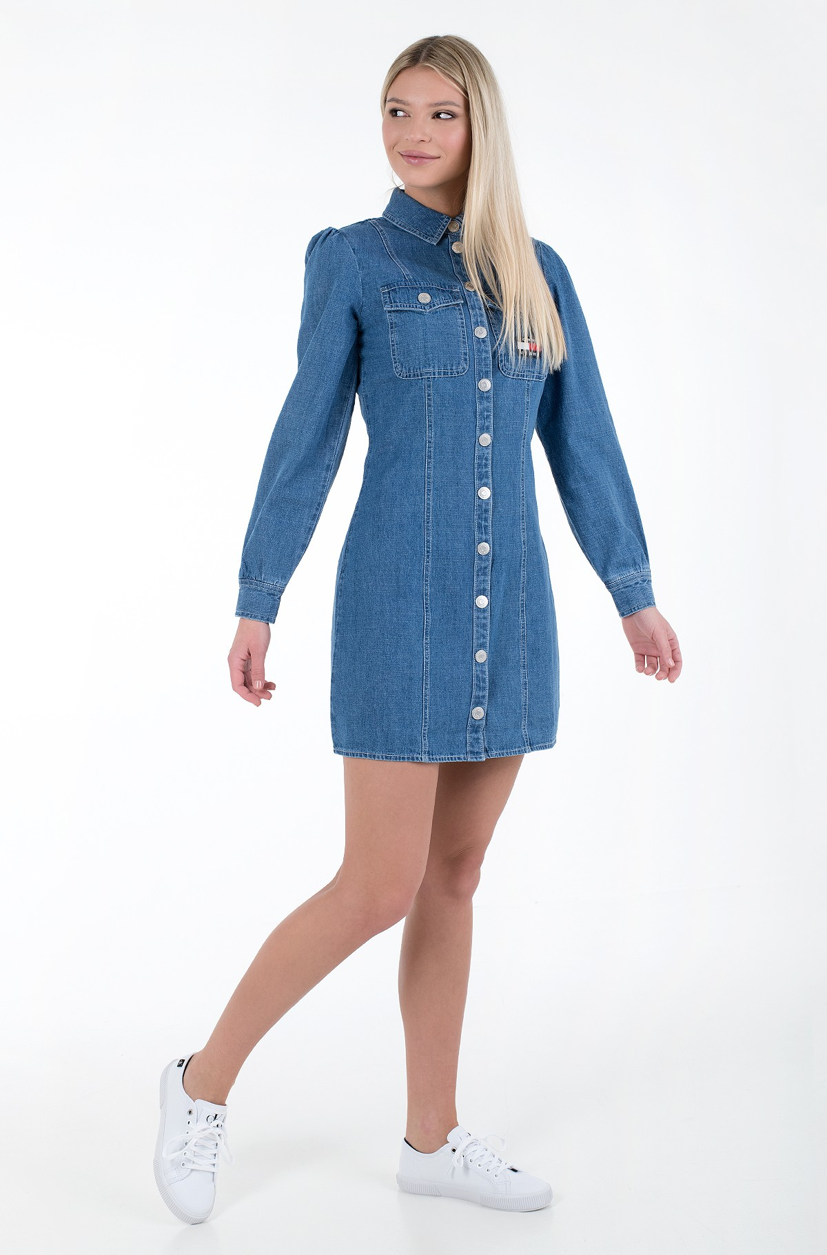 Teksakleit TJW CHAMBRAY SHIRT DRESS-full-1
