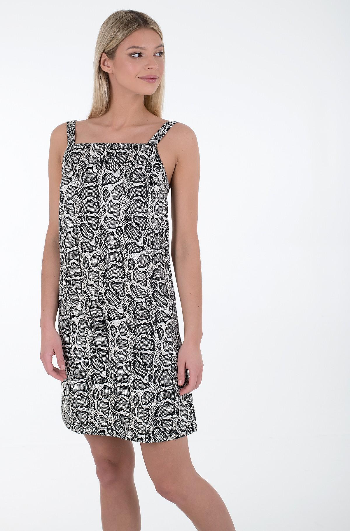 Dress WIDE STRAPS SATIN DRESS-full-1