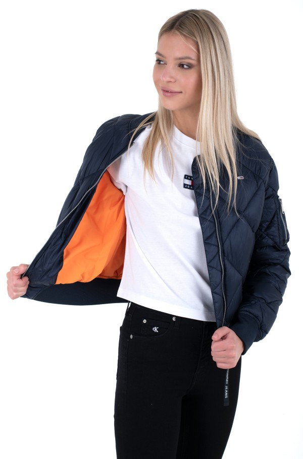 TJW DIAMOND QUILTED BOMBER-hover