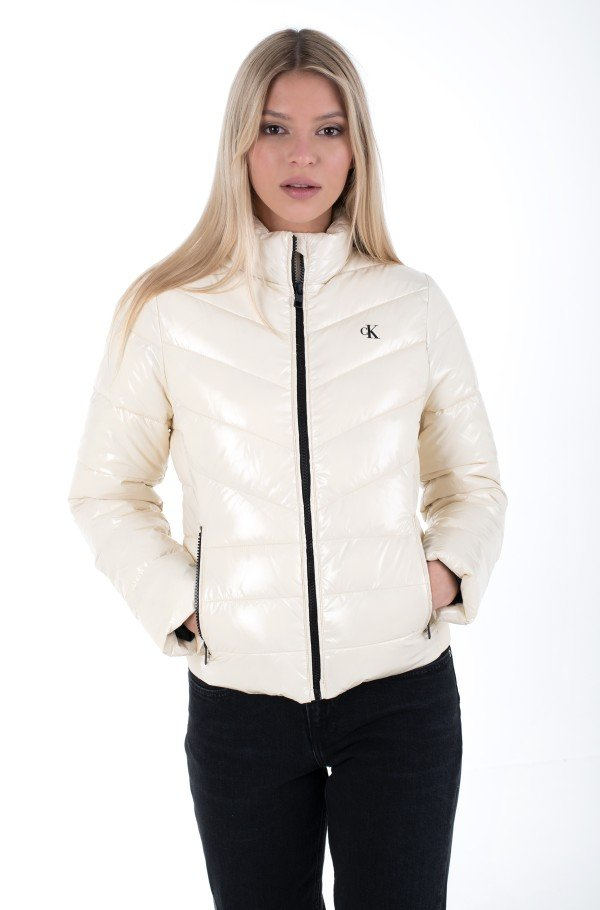GLOSSY LW PADDED PUFFER JACKET-hover