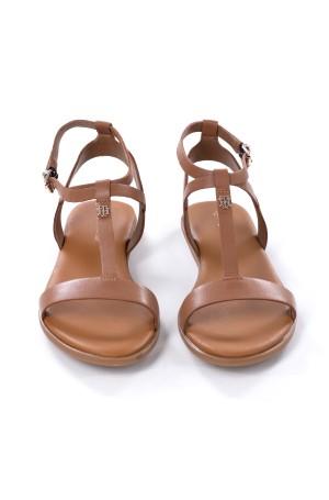 Sandals FEMININE LEATHER FLAT SANDAL-2