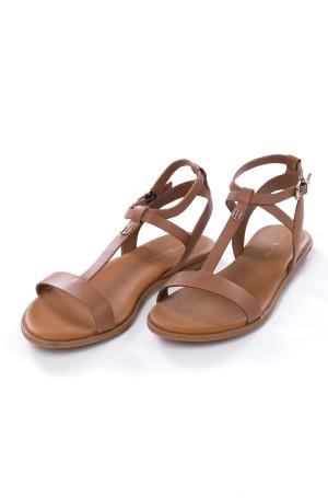 Sandals FEMININE LEATHER FLAT SANDAL-1