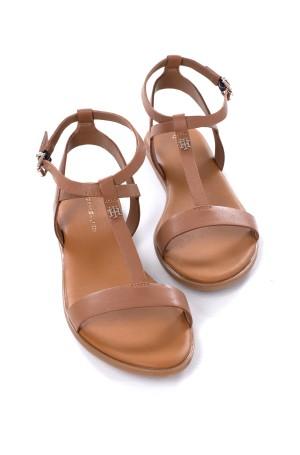 Sandals FEMININE LEATHER FLAT SANDAL-3