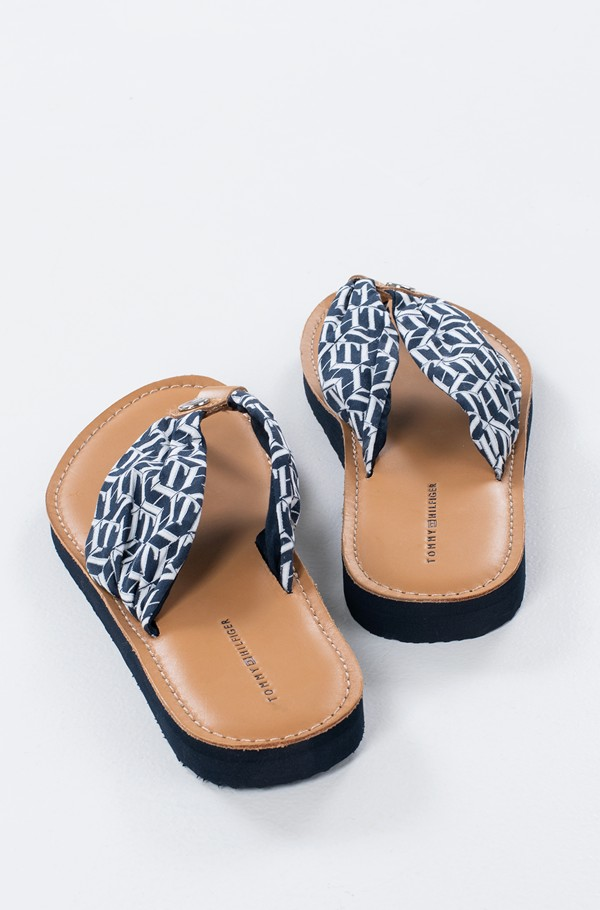 LEATHER FOOTBED TH BEACH SANDAL-hover