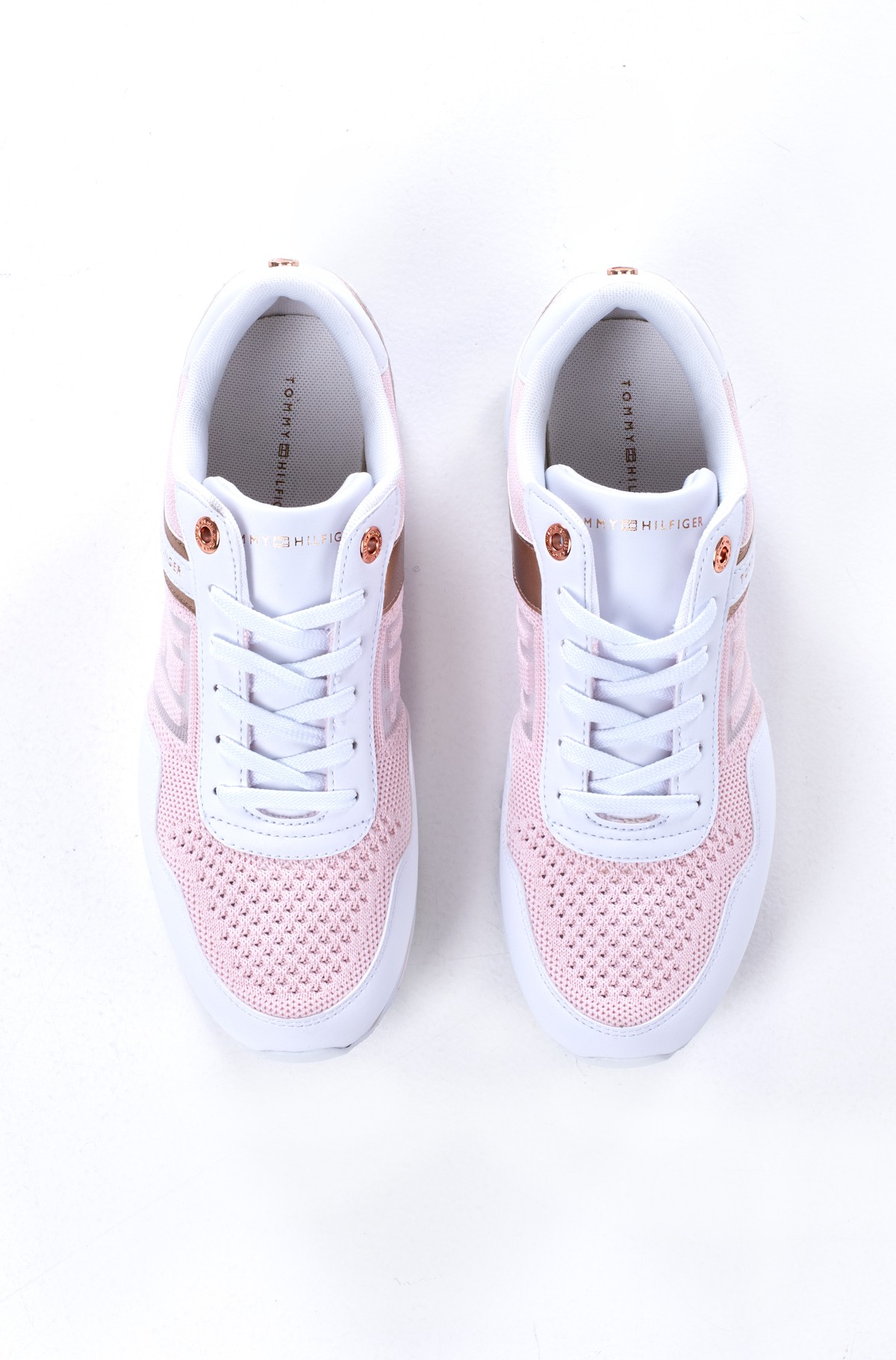 Platform sneakers  KNITTED FLATFORM SNEAKER-full-2