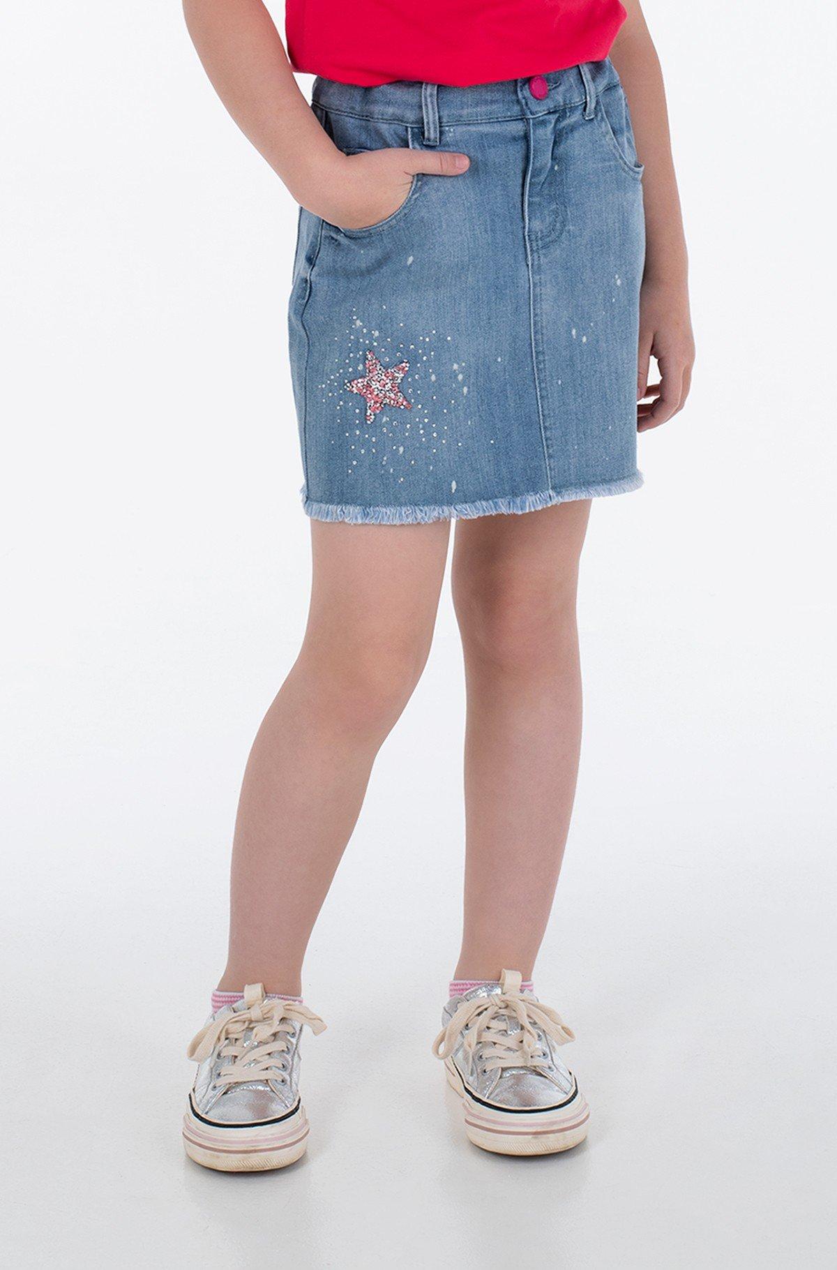 Children's denim skirt J1GD14 D4CA0-full-1