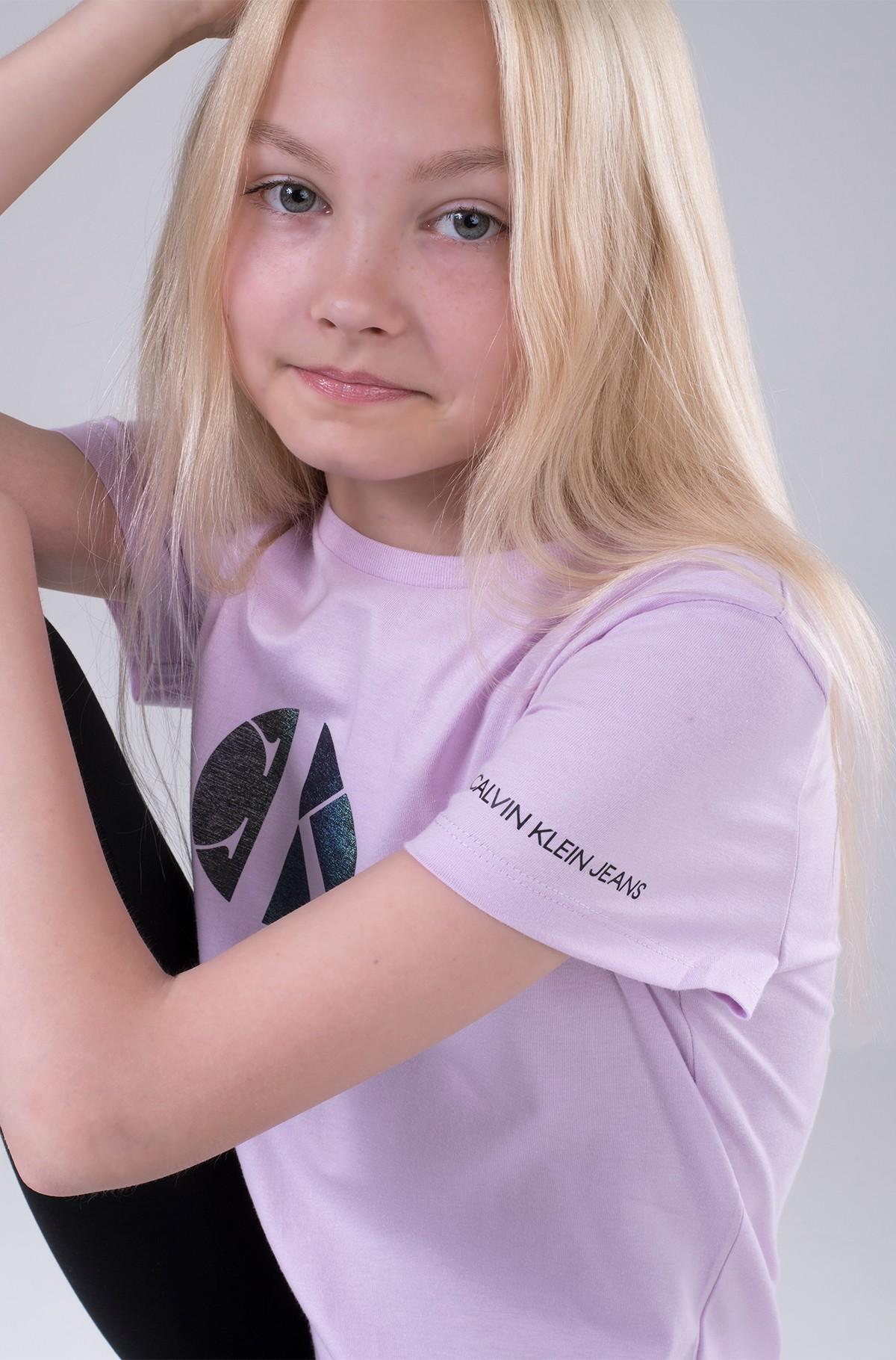 Bērnu T-krekls CIRCLE MONOGRAM T-SHIRT-full-1