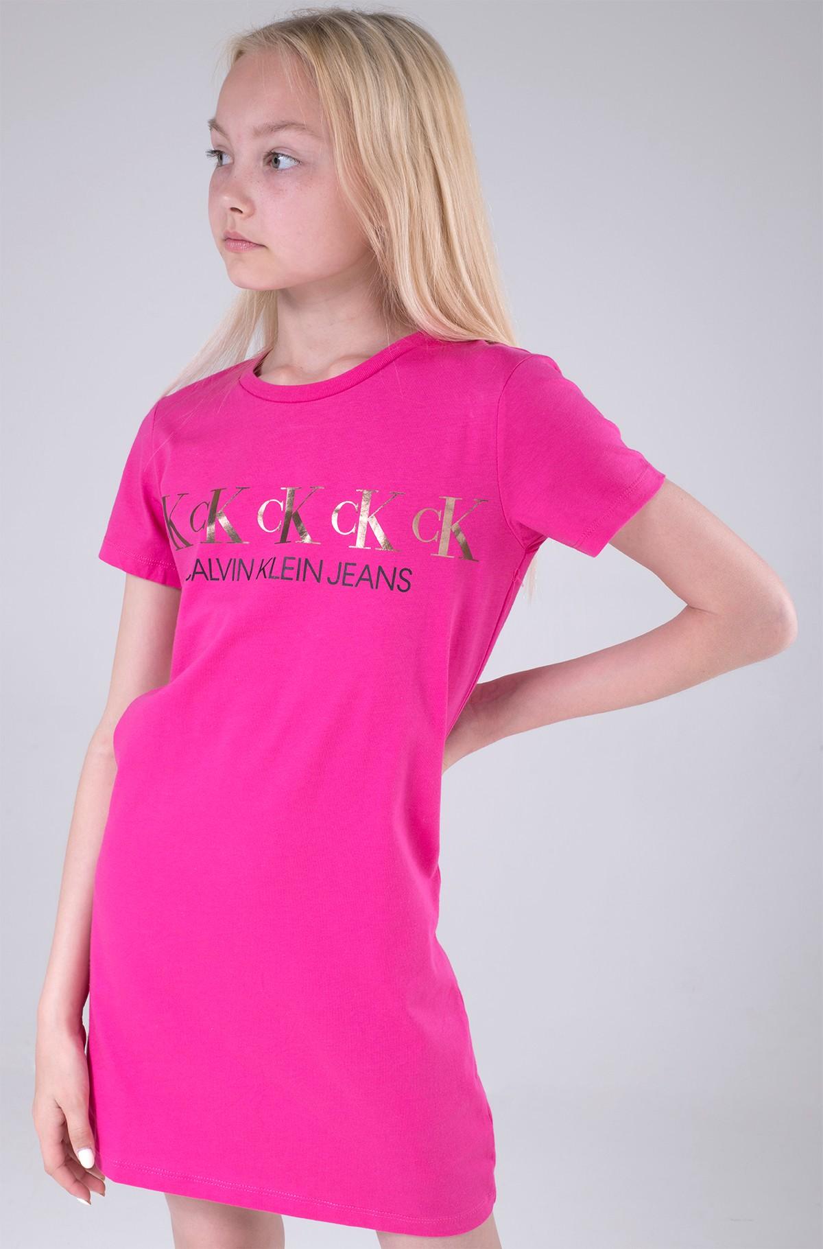 Kreklkleita CK REPEAT FOIL T-SHIRT DRESS-full-1