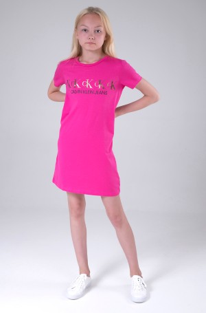Kreklkleita CK REPEAT FOIL T-SHIRT DRESS-2