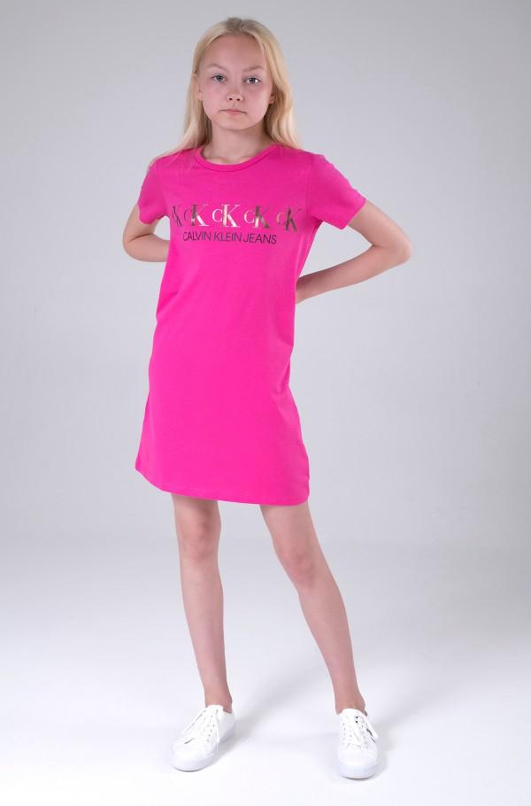 CK REPEAT FOIL T-SHIRT DRESS-hover