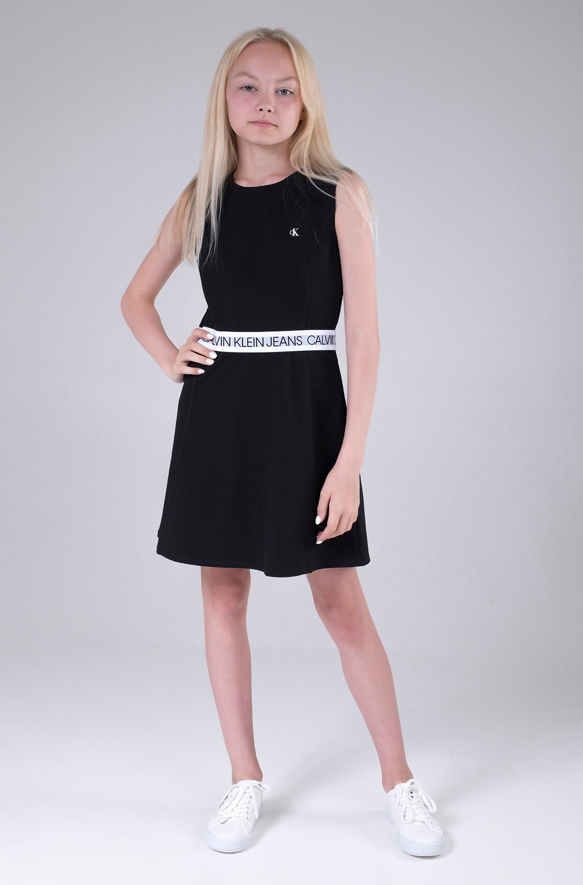 Bērnu kleita LOGO TAPE PUNTO SLEEVELESS DRESS-full-3