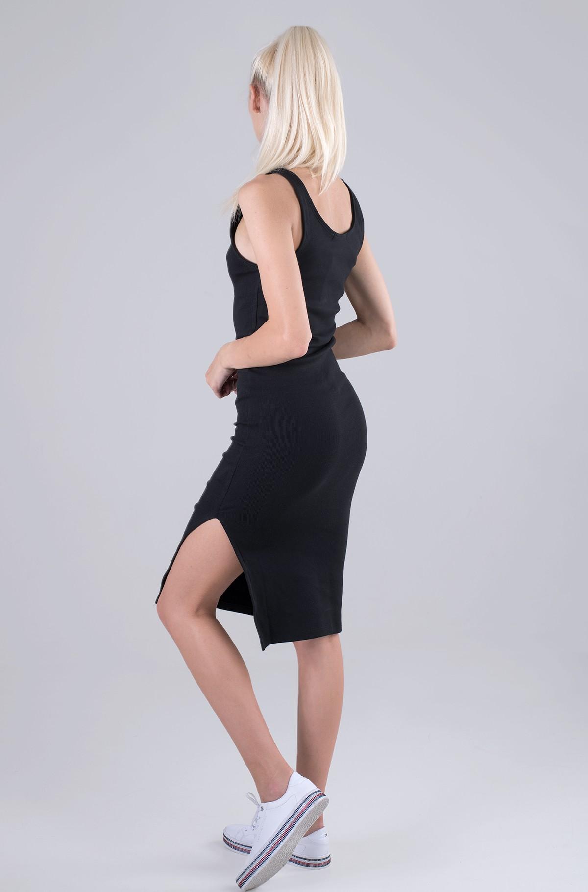 Kleit MICRO BRANDING STRAPPY RIB DRESS-full-2
