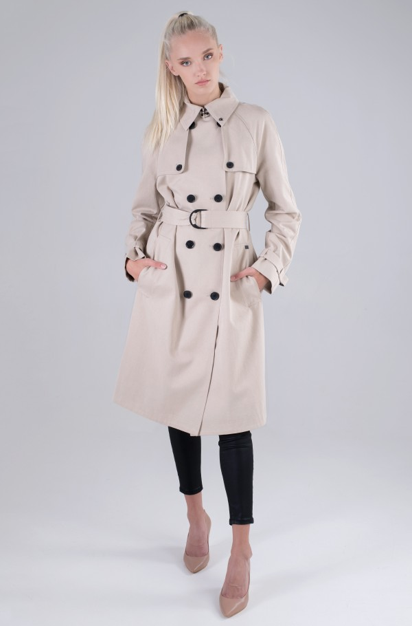 COTTON TENCEL TRENCH COAT-hover