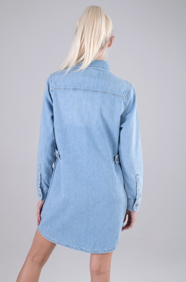 RELAXED SHIRT DRESS-hover