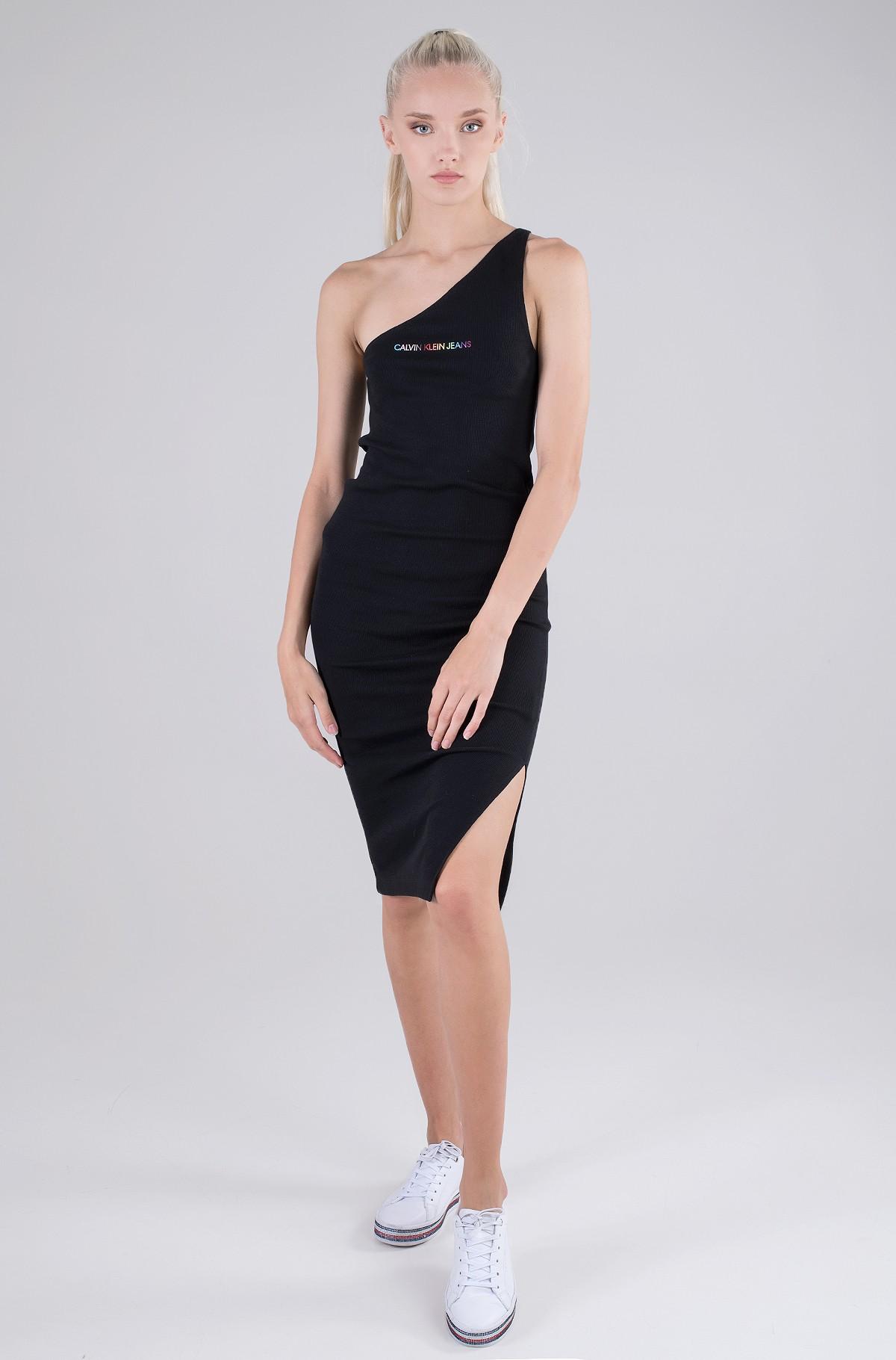 Kleit PRIDE ASYMMETRICAL RIB DRESS-full-2