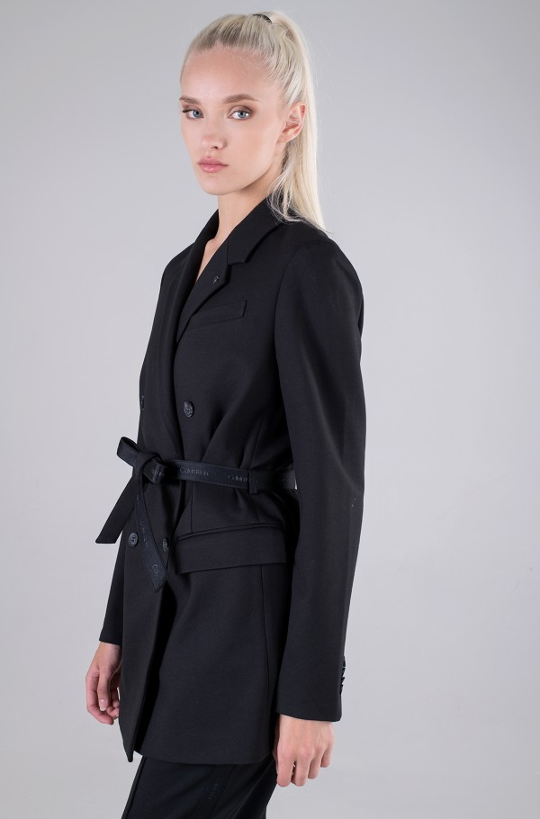 RECYCLED MILANO BELTED BLAZER-hover