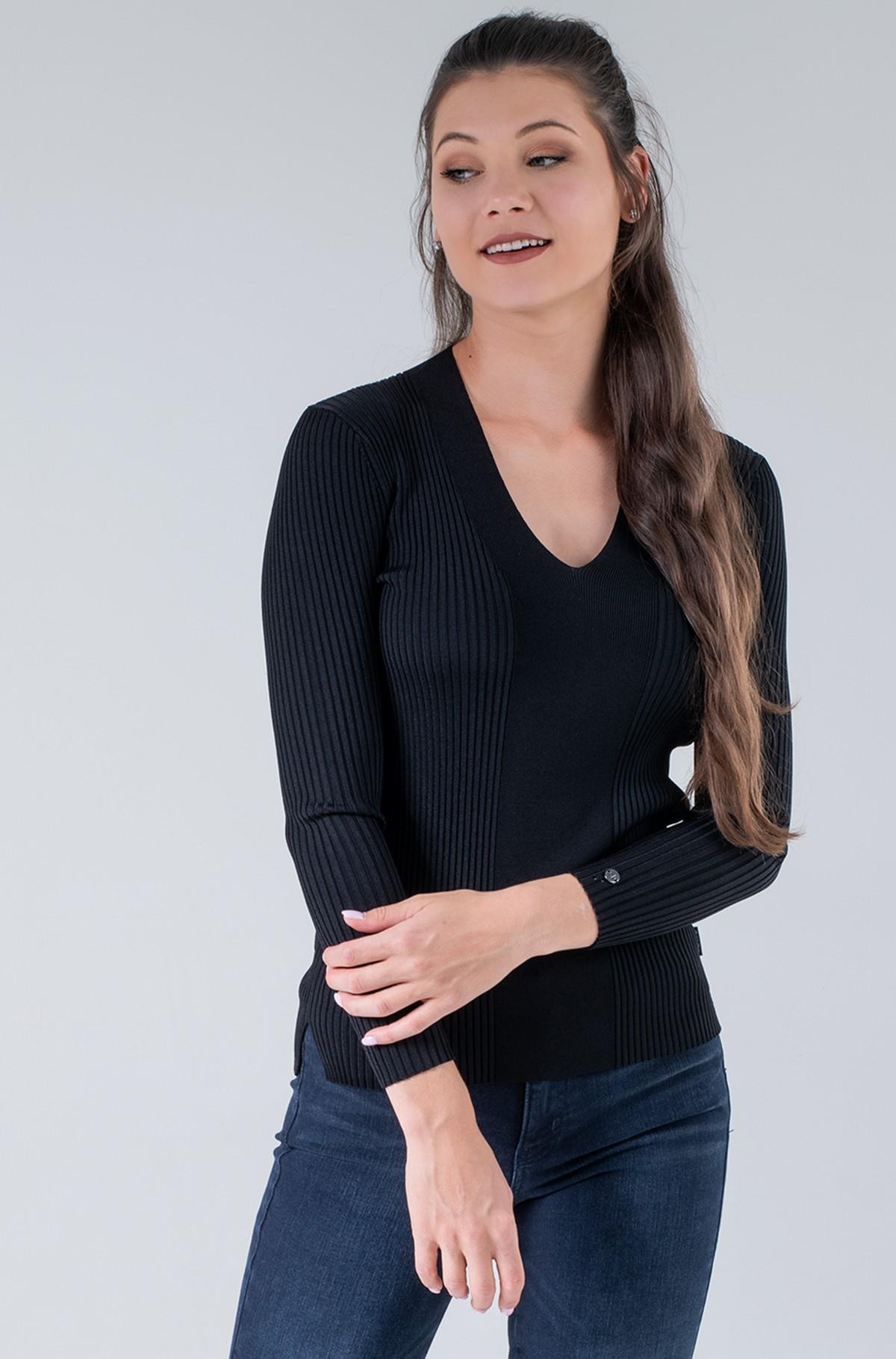 Knitwear ICONIC RIB V-NECK SWEATER-full-1