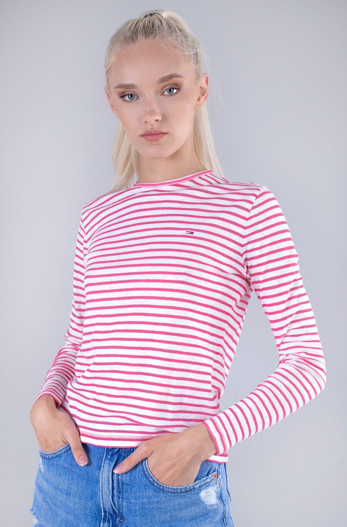 Long sleeved shirt TJW SLIM TEXTURED STRIPE TEE LS-full-1