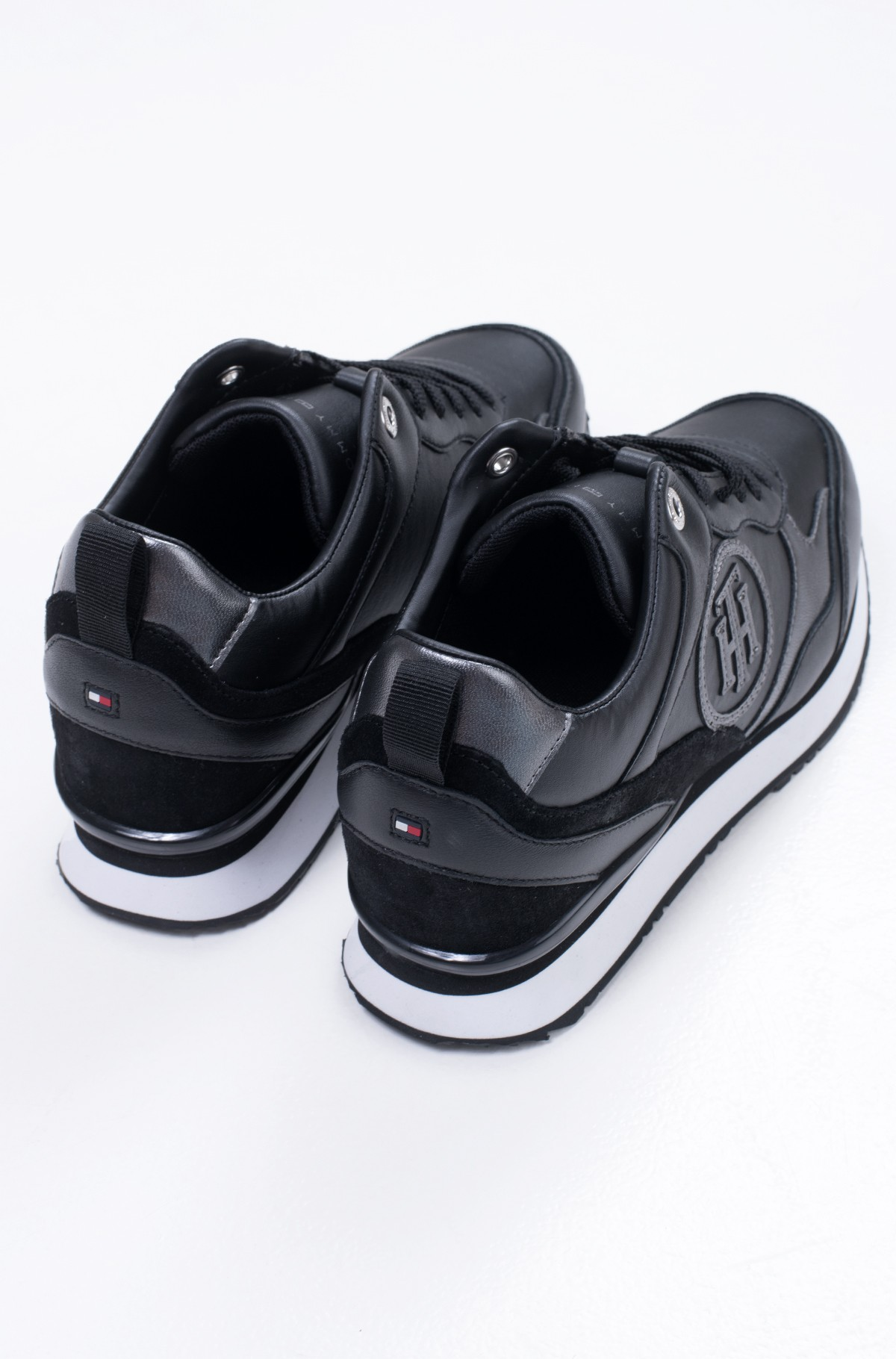 Casual shoes METALLIC DRESSY WEDGE SNEAKER-full-3