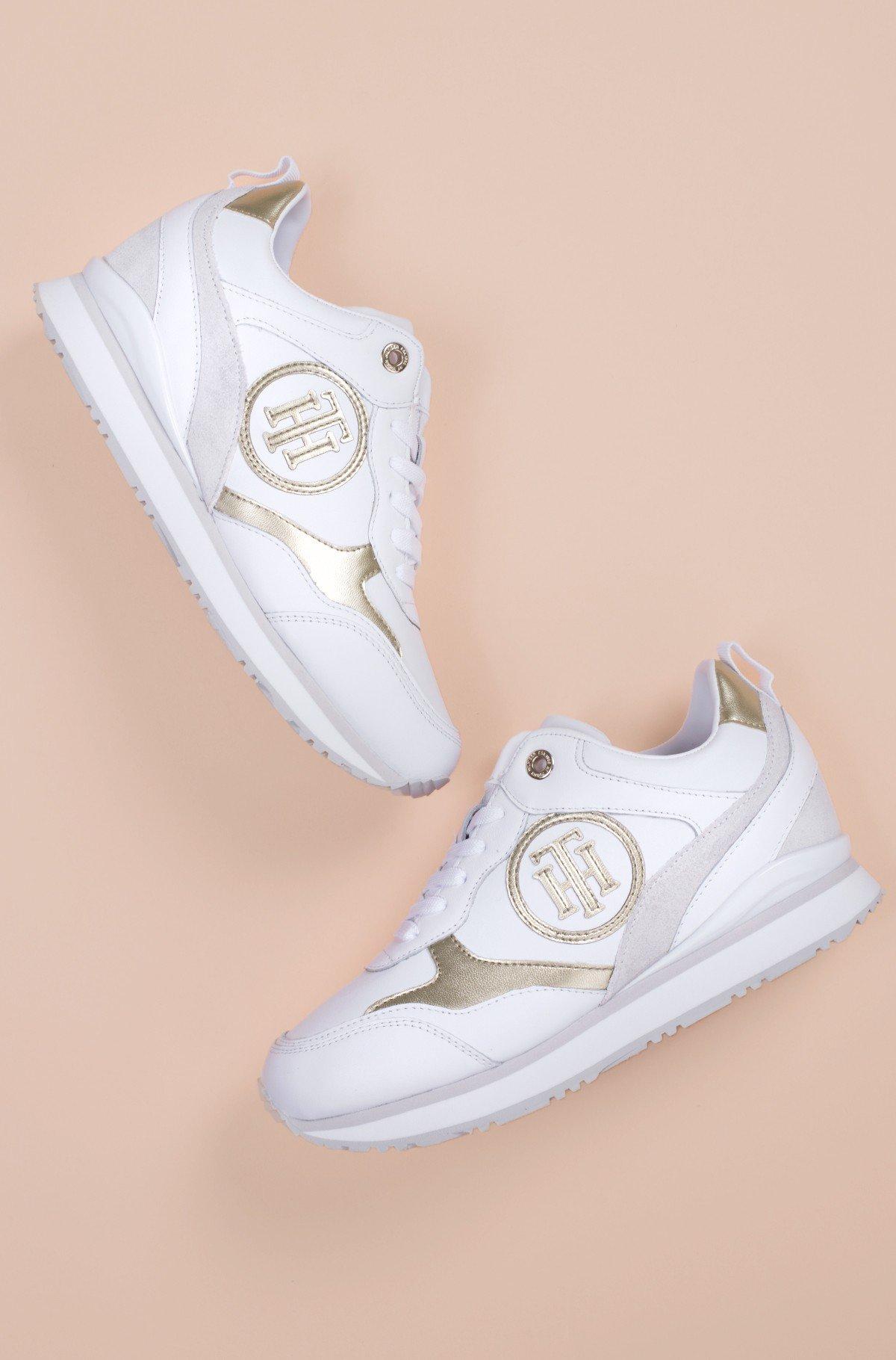 Casual shoes METALLIC DRESSY WEDGE SNEAKER-full-1