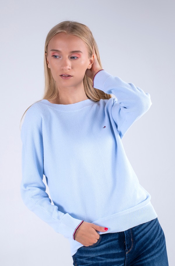 ORG CO TEXTURE BOAT-NK SWEATER