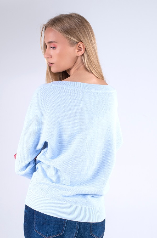 ORG CO TEXTURE BOAT-NK SWEATER-hover