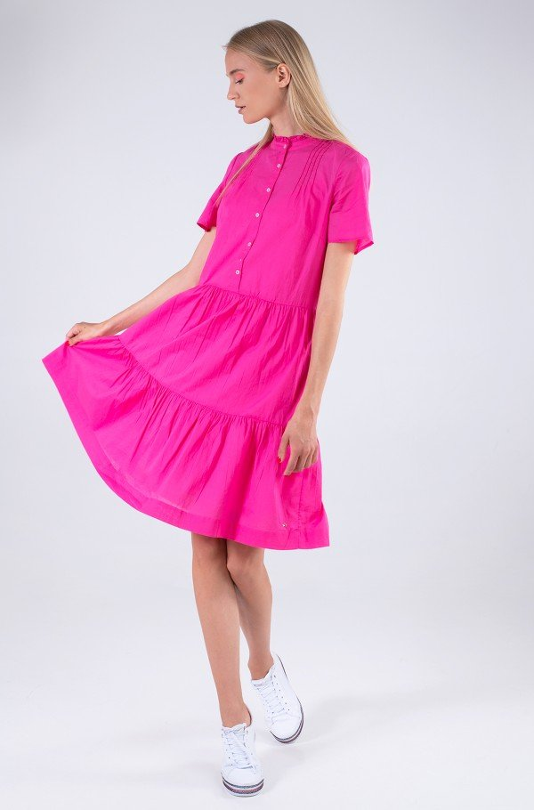 COTTON VOILE F&F KNEE DRESS SS