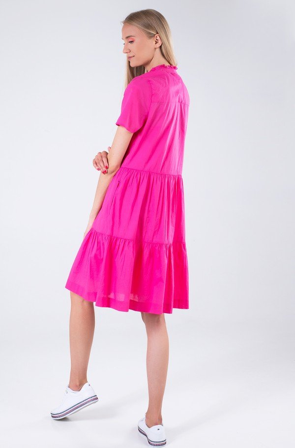 COTTON VOILE F&F KNEE DRESS SS-hover