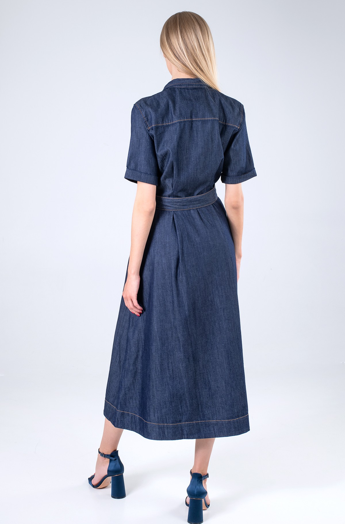 Džinsinė suknelė  DENIM F&F LONG DRESS CHRISSY SS-full-2