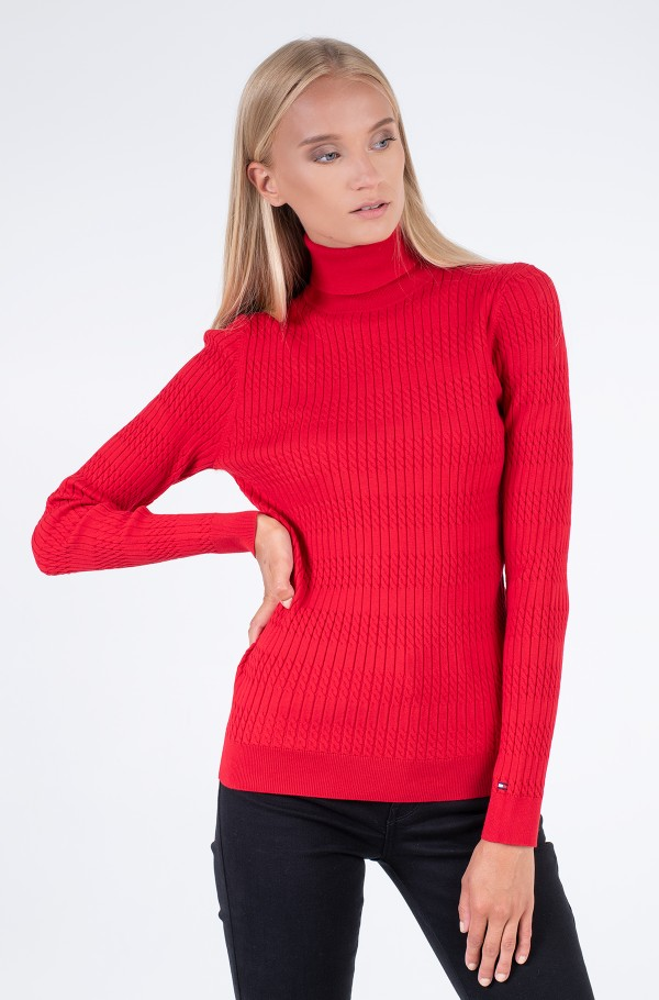 TH ESS CABLE ROLL-NK SWEATER LS