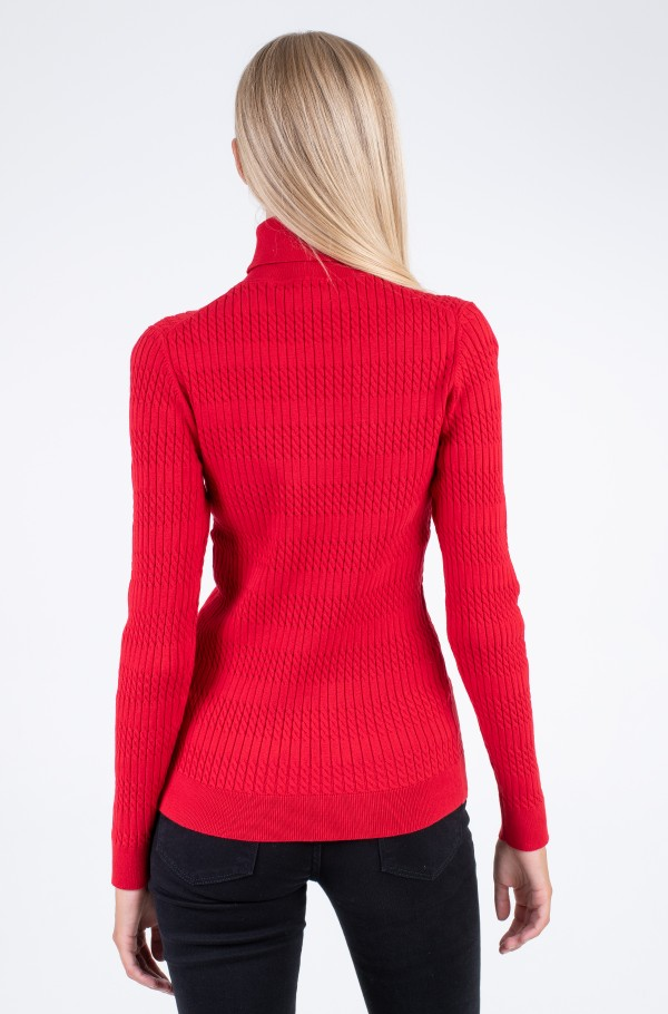 TH ESS CABLE ROLL-NK SWEATER LS-hover