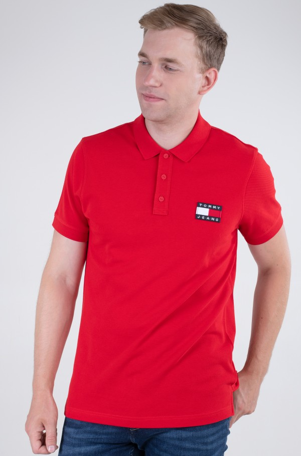 TJM TOMMY BADGE LIGHTWEIGHT POLO