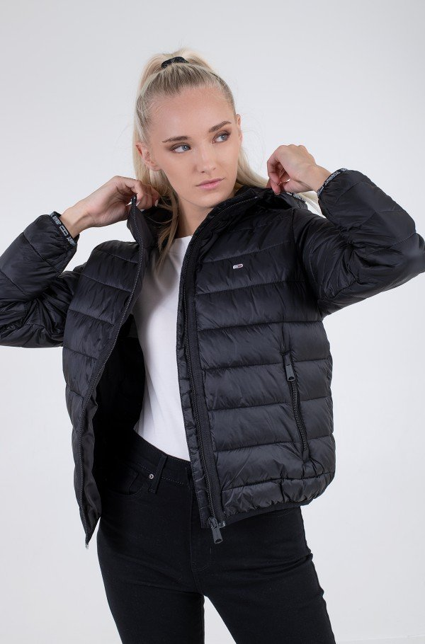 TJW QUILTED TAPE HOODED JACKET-hover