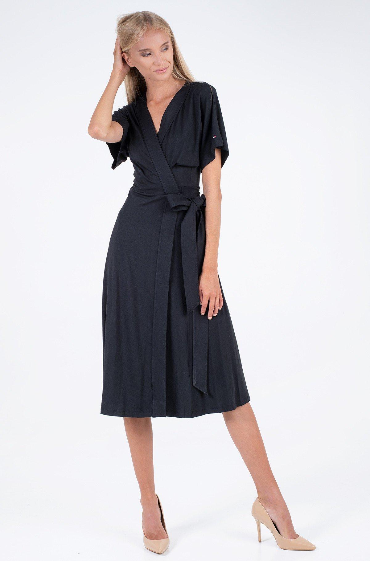 Dress REGULAR MIDI WRAP DRESS SS-full-1