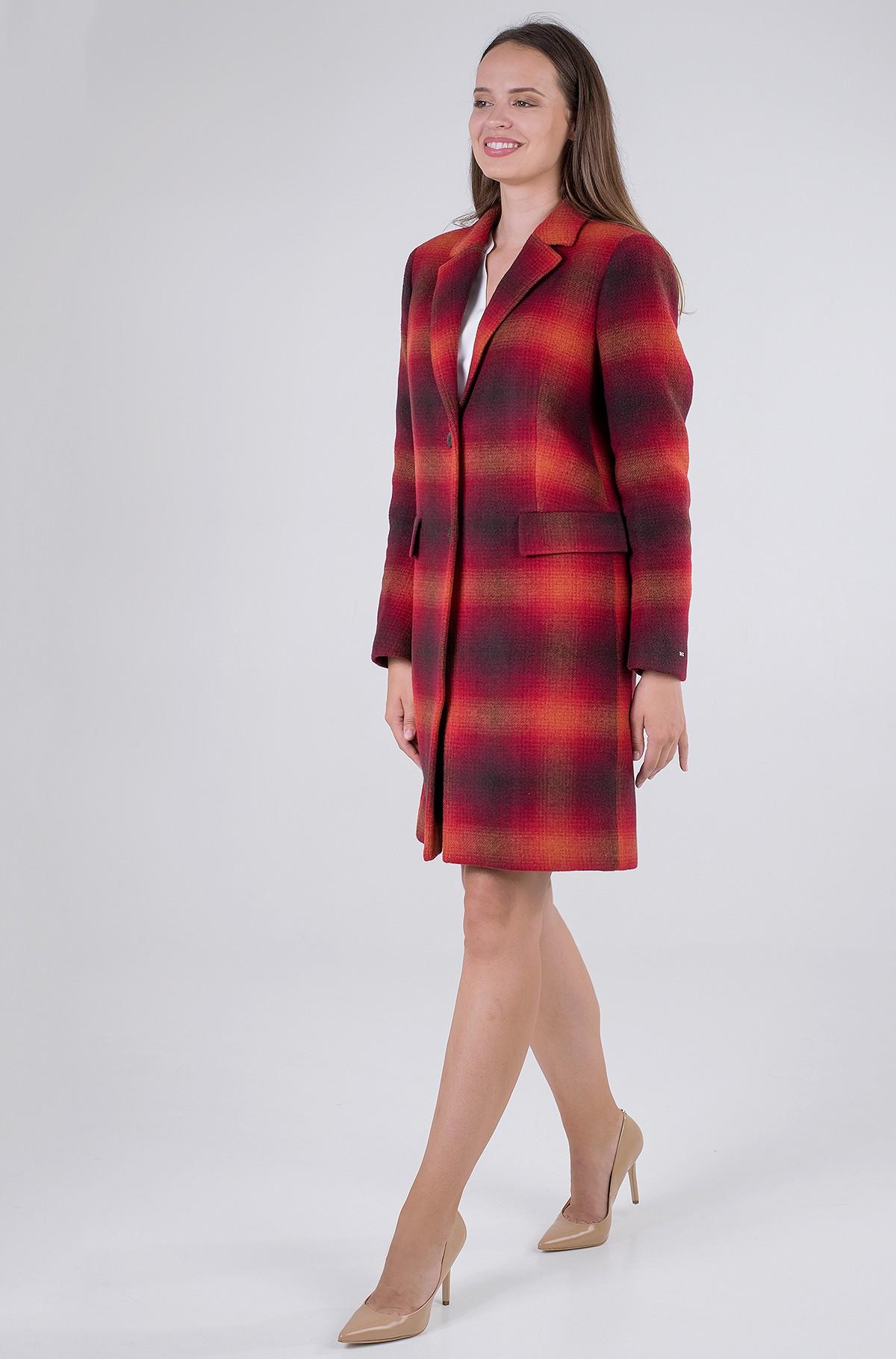 Coat WOOL BLEND CHECK CLASSIC COAT-full-1